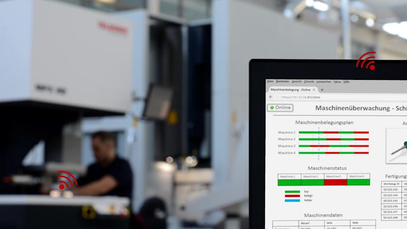 Die Plattformen lassen sich u.a. zur Maschinenüberwachung nutzen (© Mittelstand 4.0-Kompetenzzentrum Ilmenau)