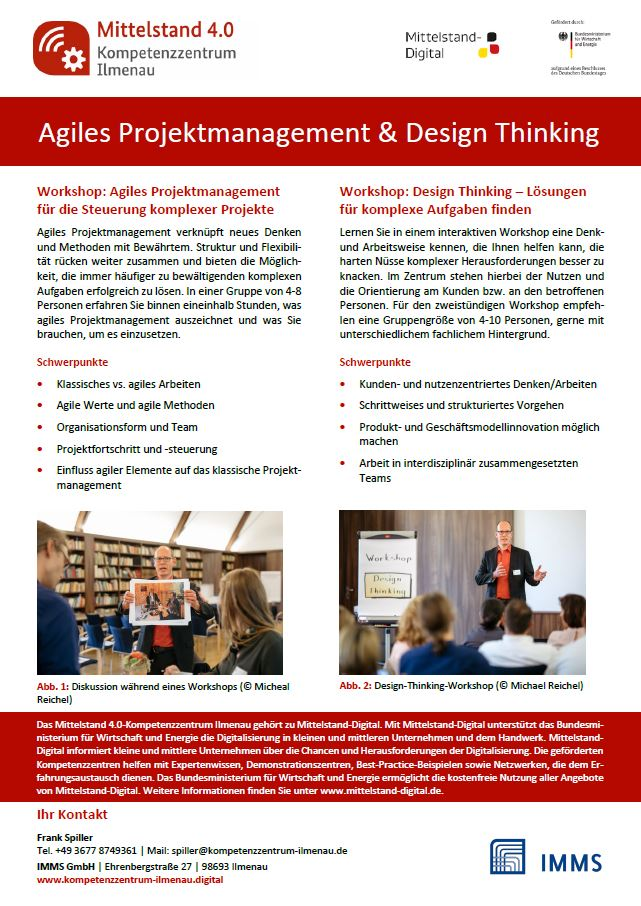Screenshot Workshops Agiles Projektmanagement und Design Thinking