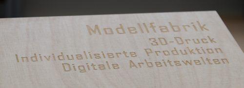 Laserbeschriftung funktioniert auch auf Holz