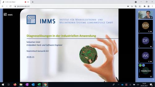 Screenshot vom Stammtisch (© IMMS GmbH)